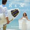《お客様04》趣味のサーフボードで個性的に!青空ビーチ撮影 – R & H様