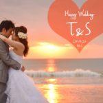 《お客様103》ロマンチックなサンセットウェディング T&S様♡ by Saori