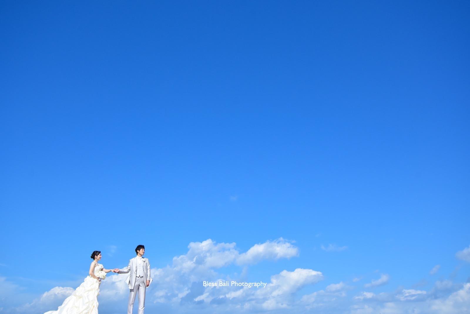 青空ビーチフォト