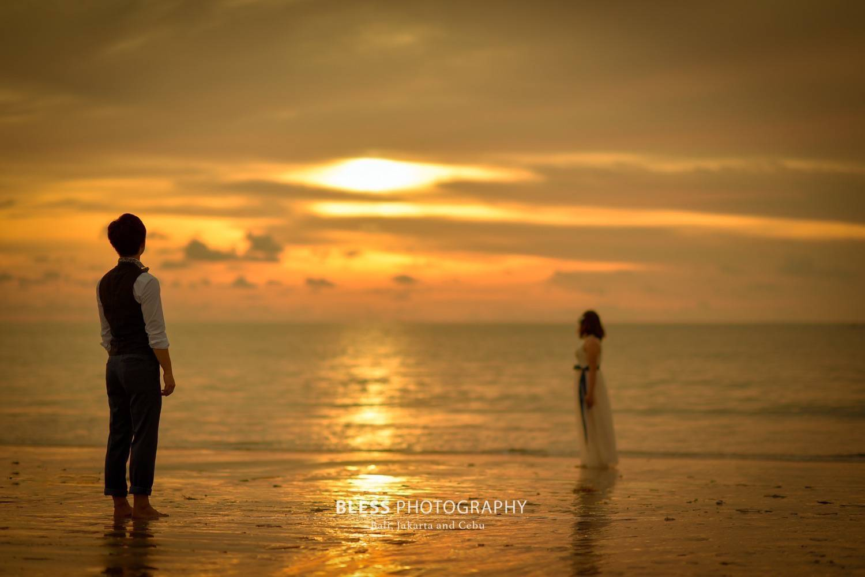サンセットが美しいジンバランビーチ