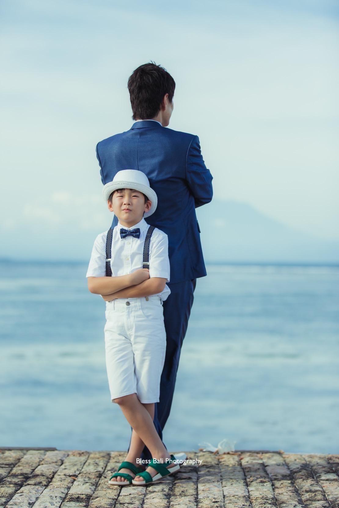 お父さんと息子さんの親子ショット