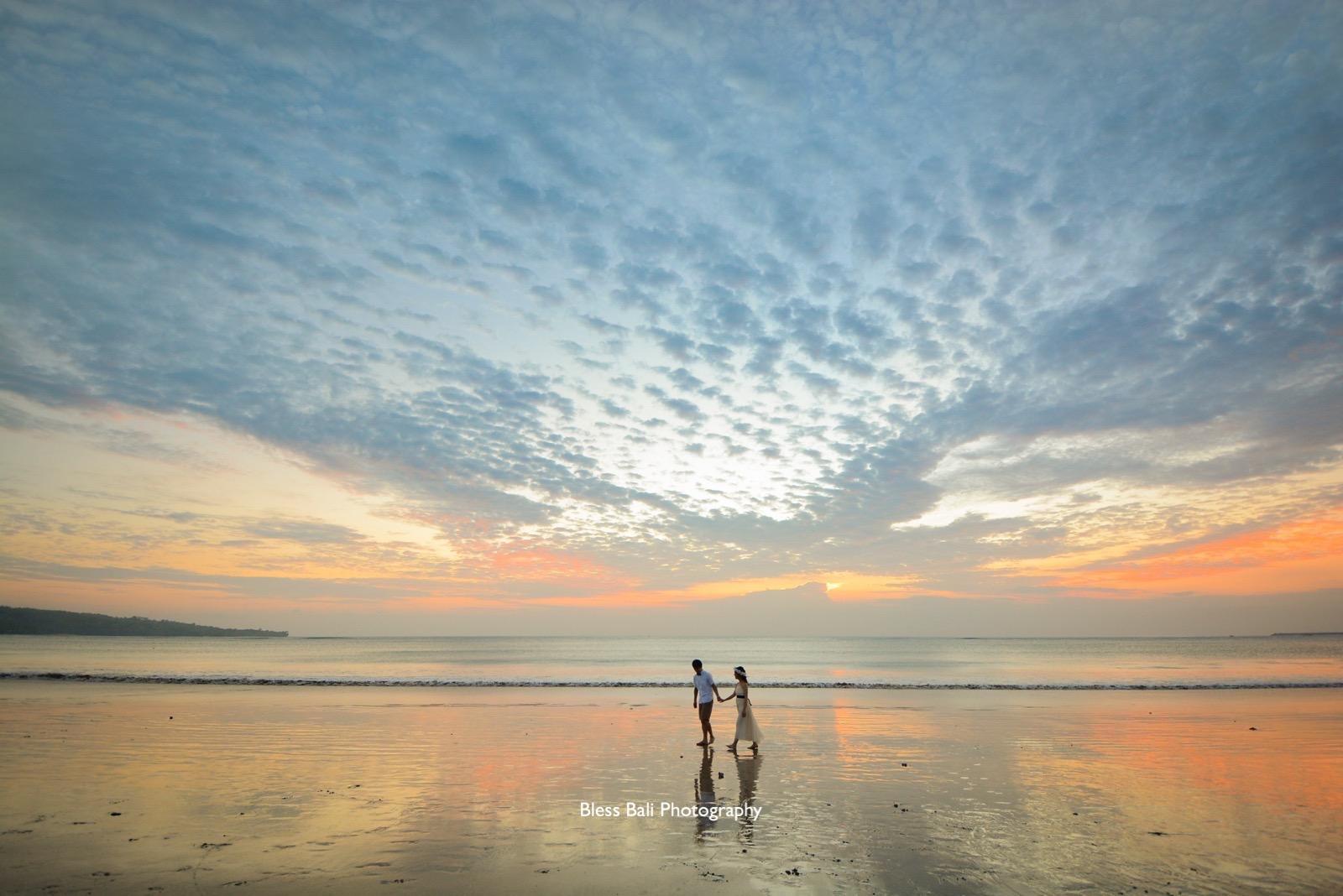 サンセットビーチフォト お散歩ショット