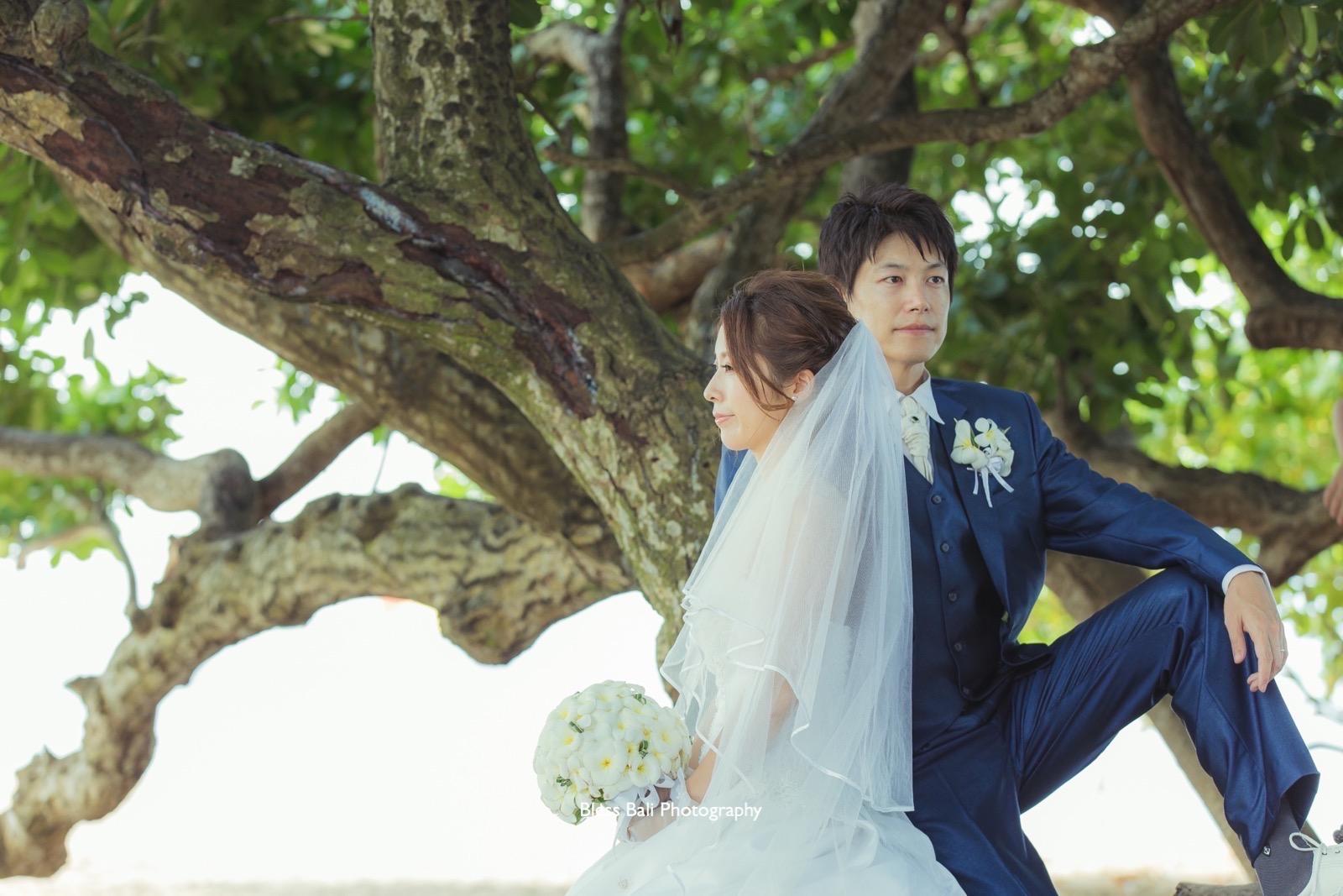 バリ島で結婚10周年記念フォト