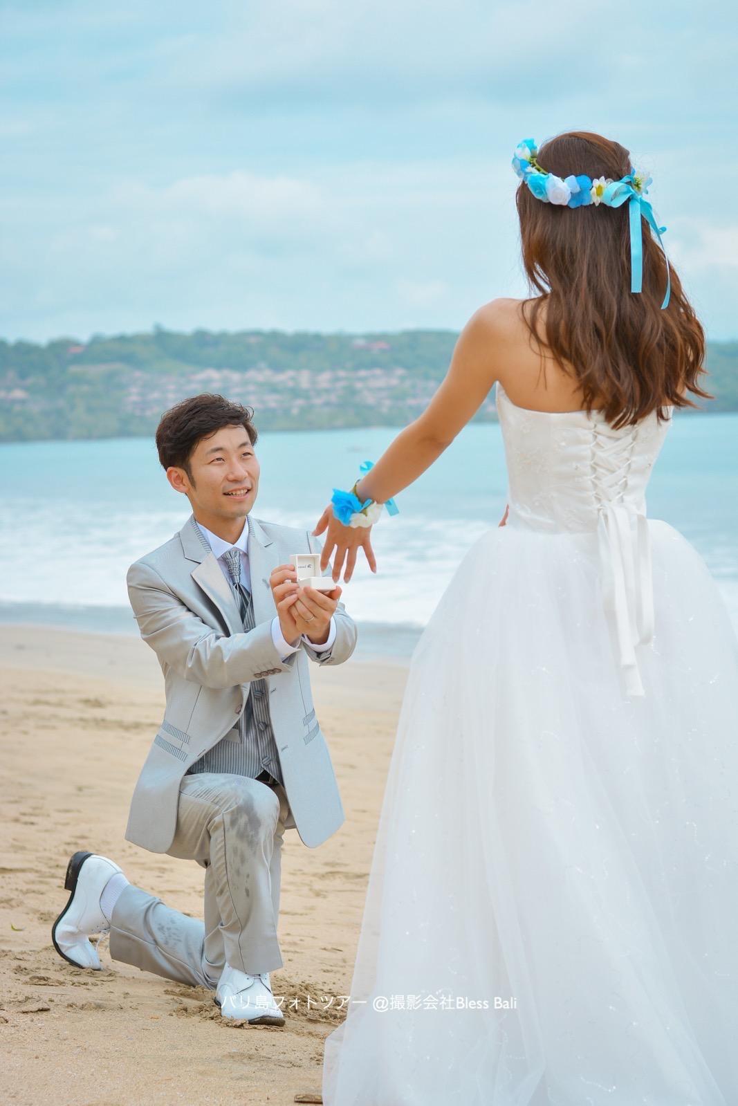 バリ島でプロポーズ